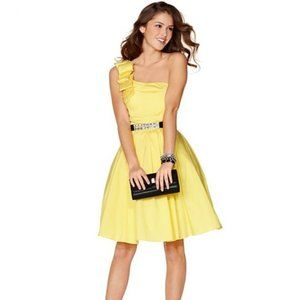 Prom/Homecoming/Party Dress (Short, Yellow, +Belt)